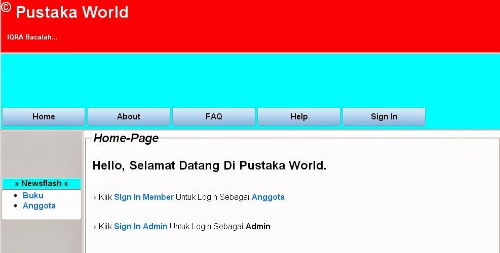 Contoh Website Aplikasi Perpustakaan Online Sederhana