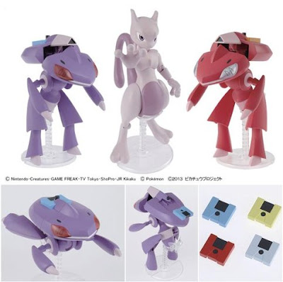 Pokemon Plamo PokePla Mewtwo Genesect Red Genesect Set Bandai