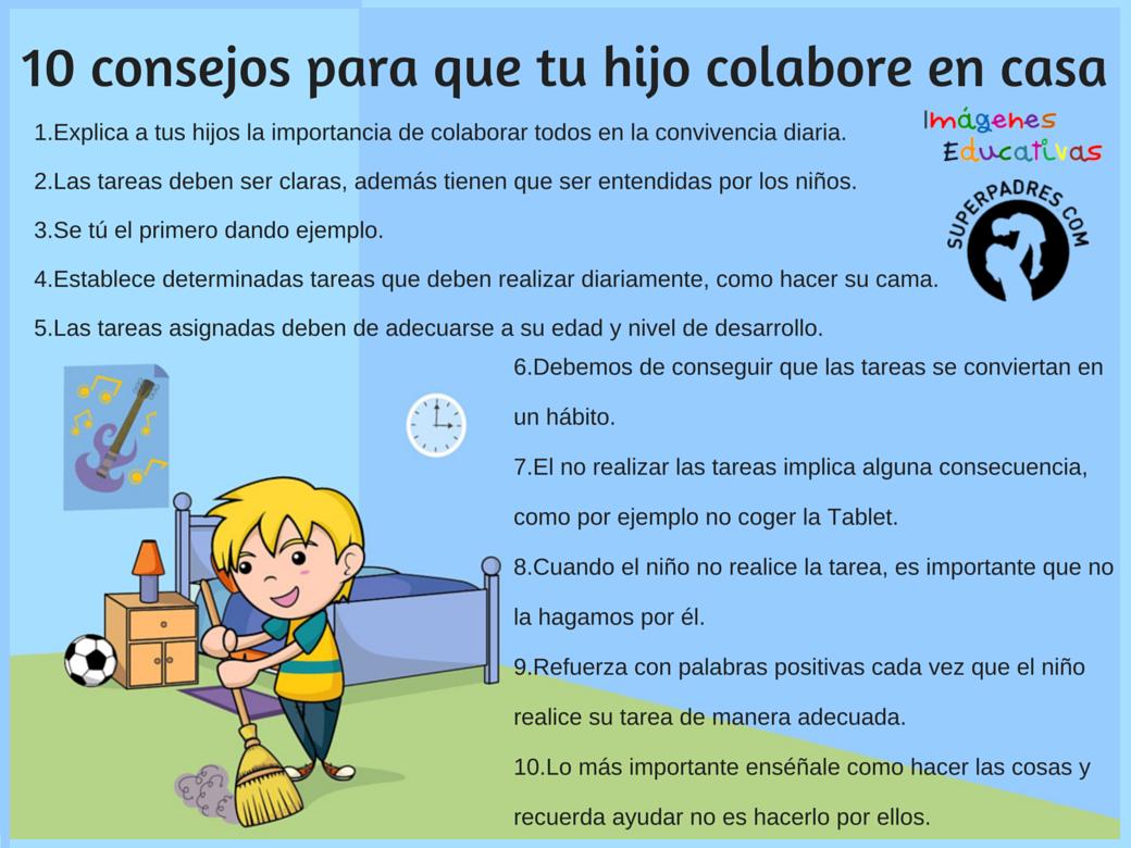 La rosa dels vents consejos para que tu hijo a colabore for Consejos para remodelar tu casa