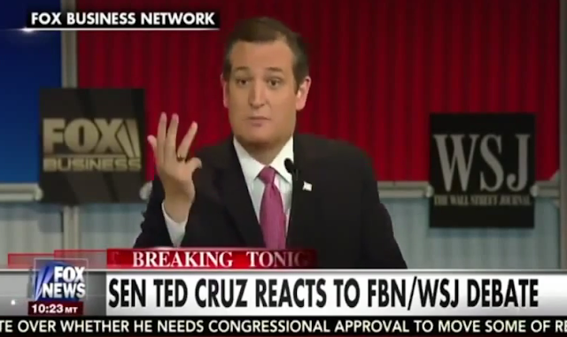 Fox Business Republican Debate Ted Cruz Department of Commerce list
