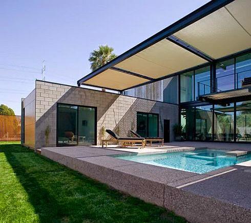 modern rectangular pool design