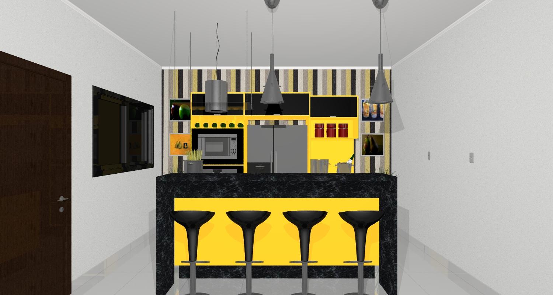 Decorao Cozinha Amarela Cozinha Amarela Planejada Armario Sala De