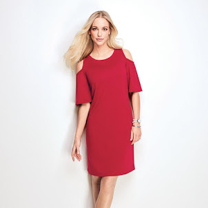 Modern Open-Shoulder Dress