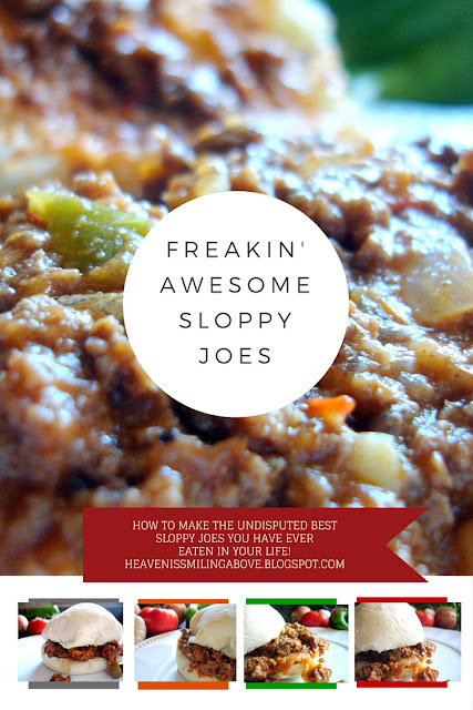 Freaking Awesome Sloppy Joes. Pitch your manwich in the trash and make your family these incredible sandwiches tonight. Heaven is Smiling Above heavenissmilingabove.blogspot.com