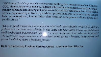 Kata-kata motivasi dari Budi Setiadharma (Presiden Direktur Astra)