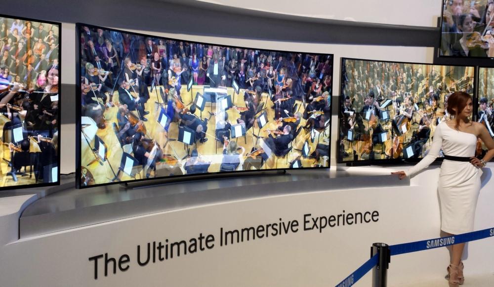 Televisión curva de 105 pulgadas de Samsung