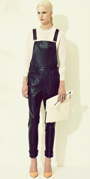 leather overalls