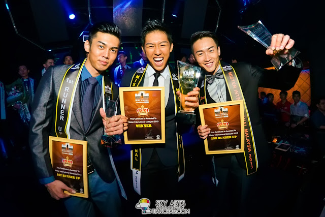 Congratulation to James Ng, Kenneth Ng and Lucas Ngu for being the top three of Mister International Malaysia 2013