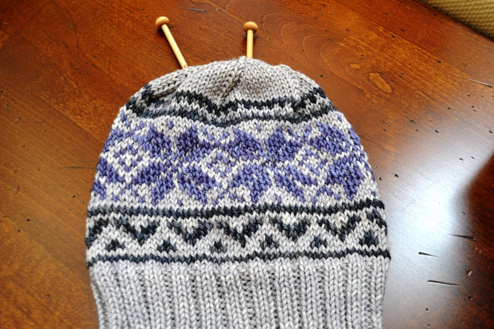It\'s All About Purple: Fair Isle Knitting Class...Part II