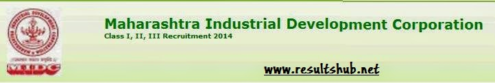 MIDC Recruitment 2014 Important Dates