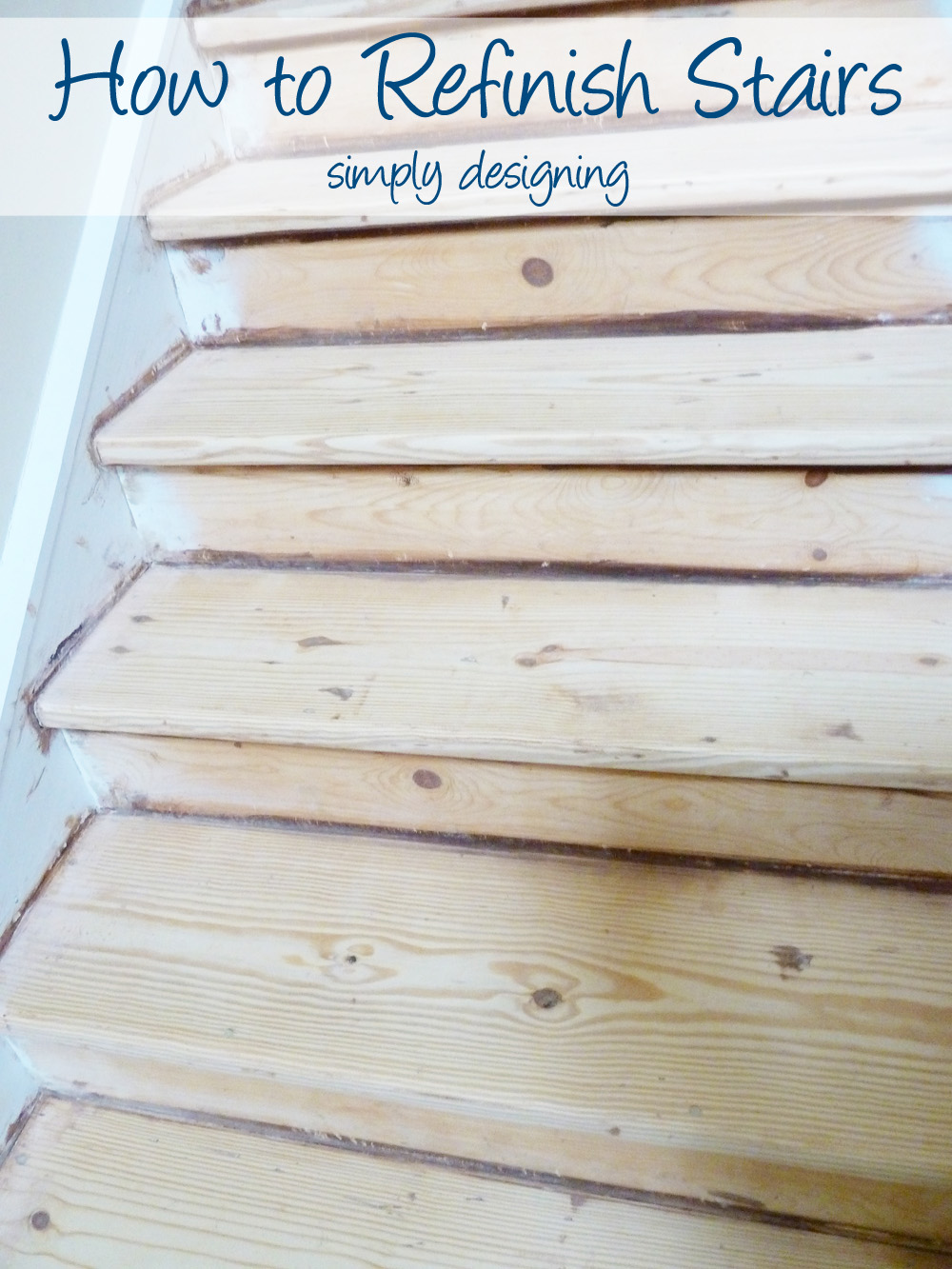 How To Refinish Stairs! #DIY #stairs #home #remodel #renovation #