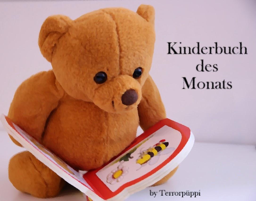 Kinderbuch des Monats; Teddybär mit Buch auf dem Schoß