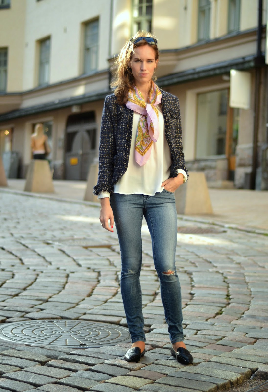 sheinside-blue-tweed-jacket-outfit