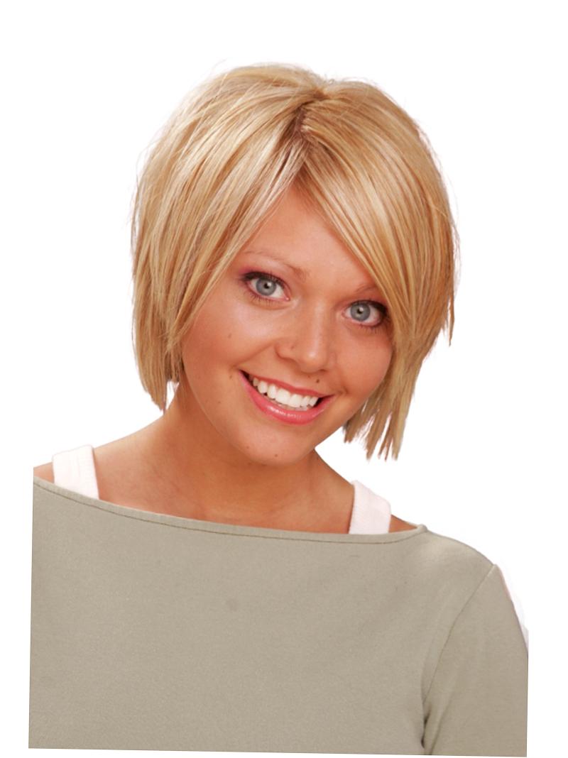 Стрижка каре на короткие тонкие волосы с челкой