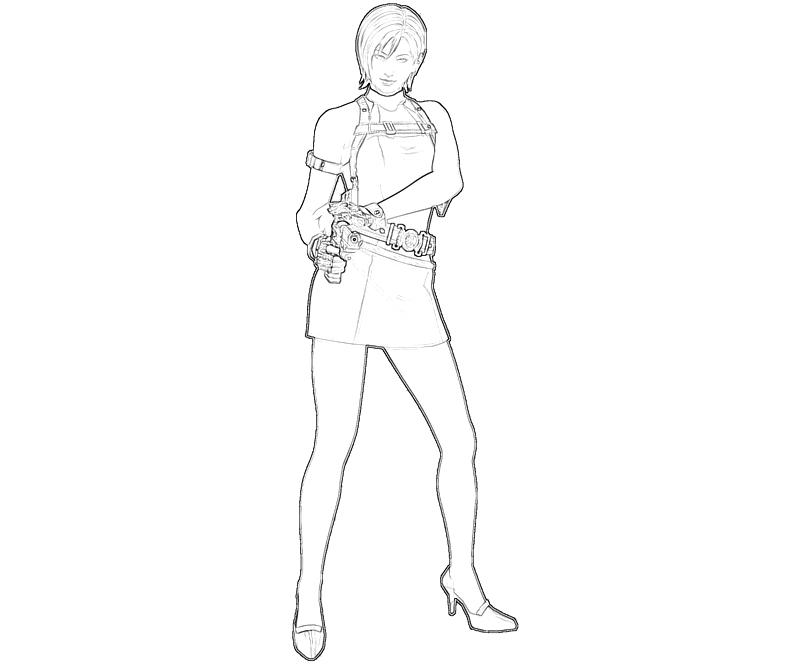 ada wong coloring pages - photo#5