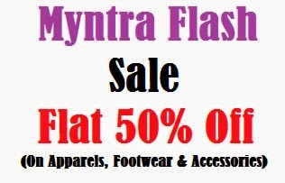 Myntra Flash Sale:  Get Flat 50% Discount (Free Home Delivery for New Customers) No Min Purchase
