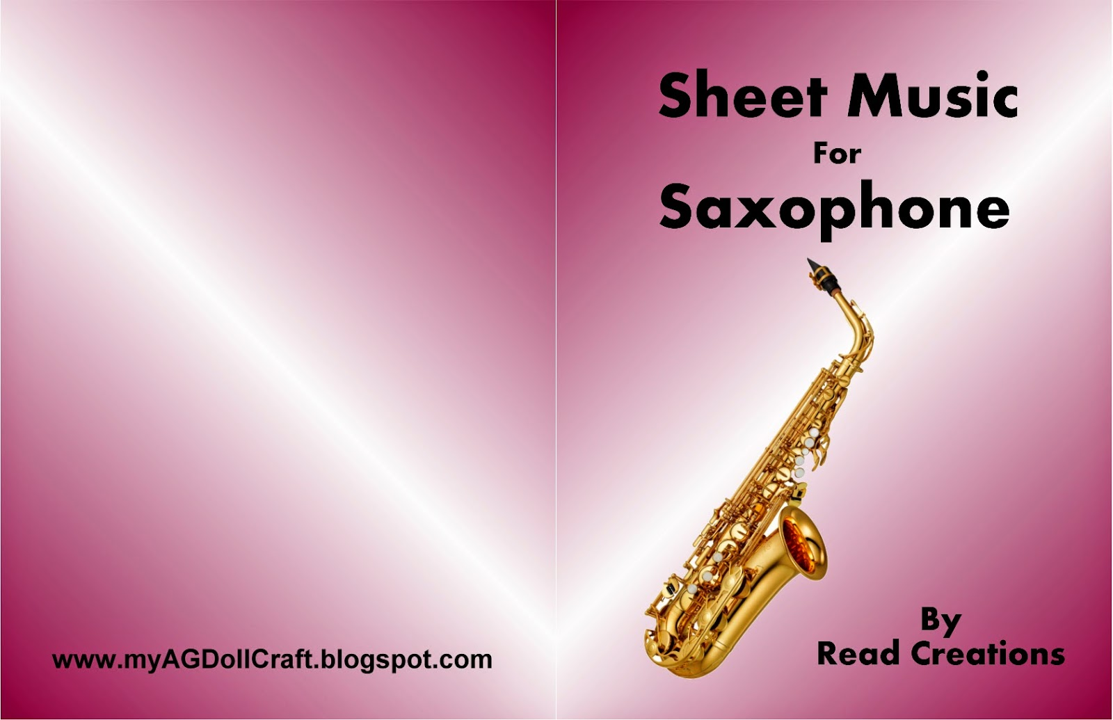 Saxophone book cover
