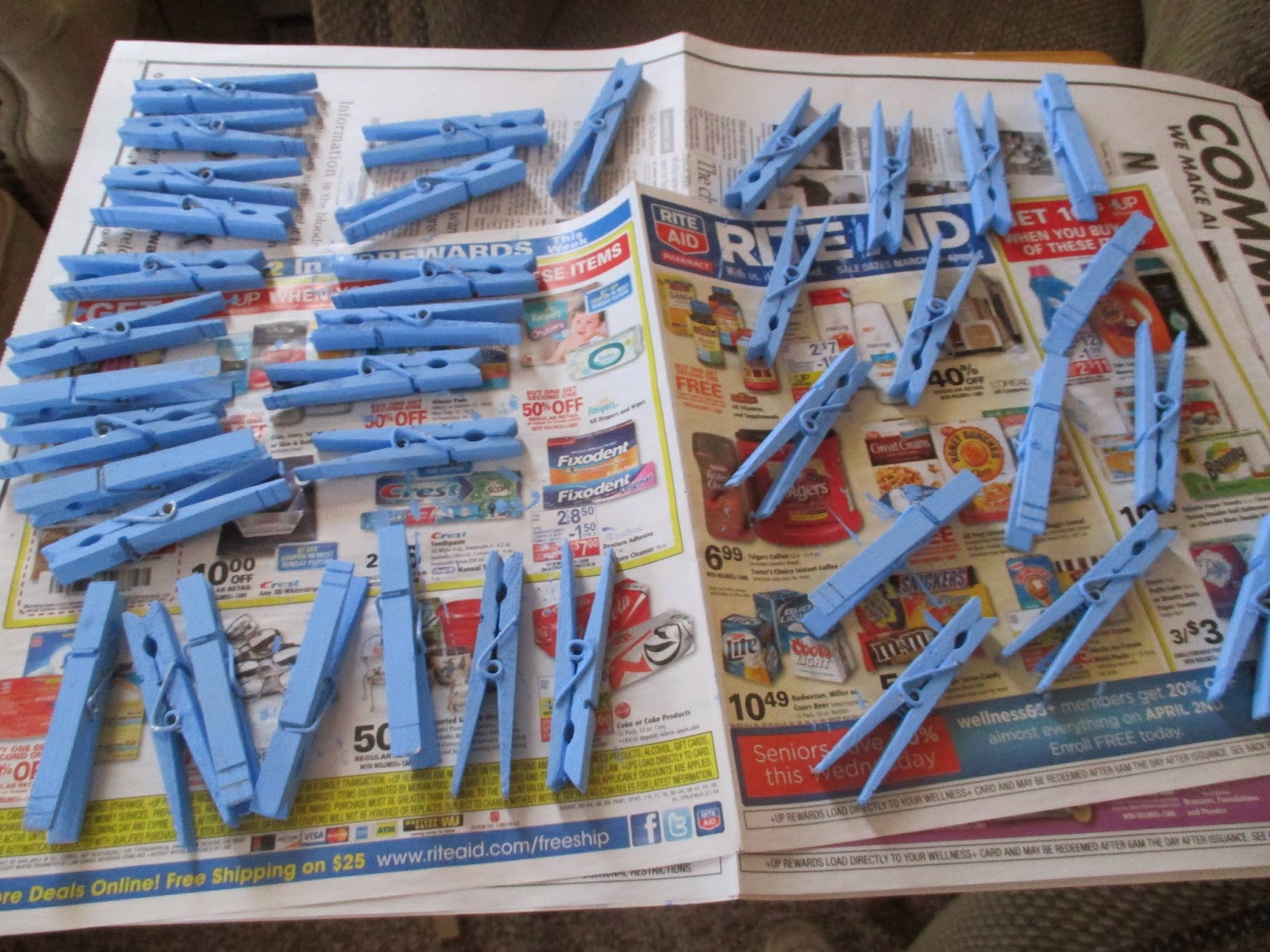 ... The Shower And I Thought I Would Share All The Preparation With You.  Our First Post Will Show The Favors. To Start I Painted 40 Clothespins Baby  Boy ...