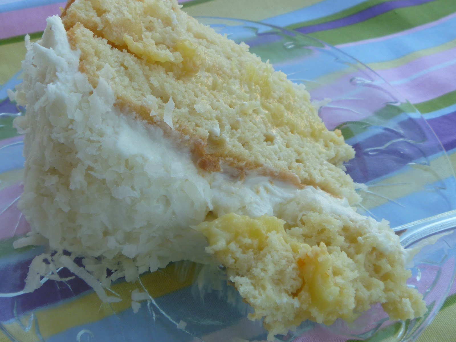 Miss Kris Kitchen: Hubby\'s Requested Coconut Pineapple Birthday Cake