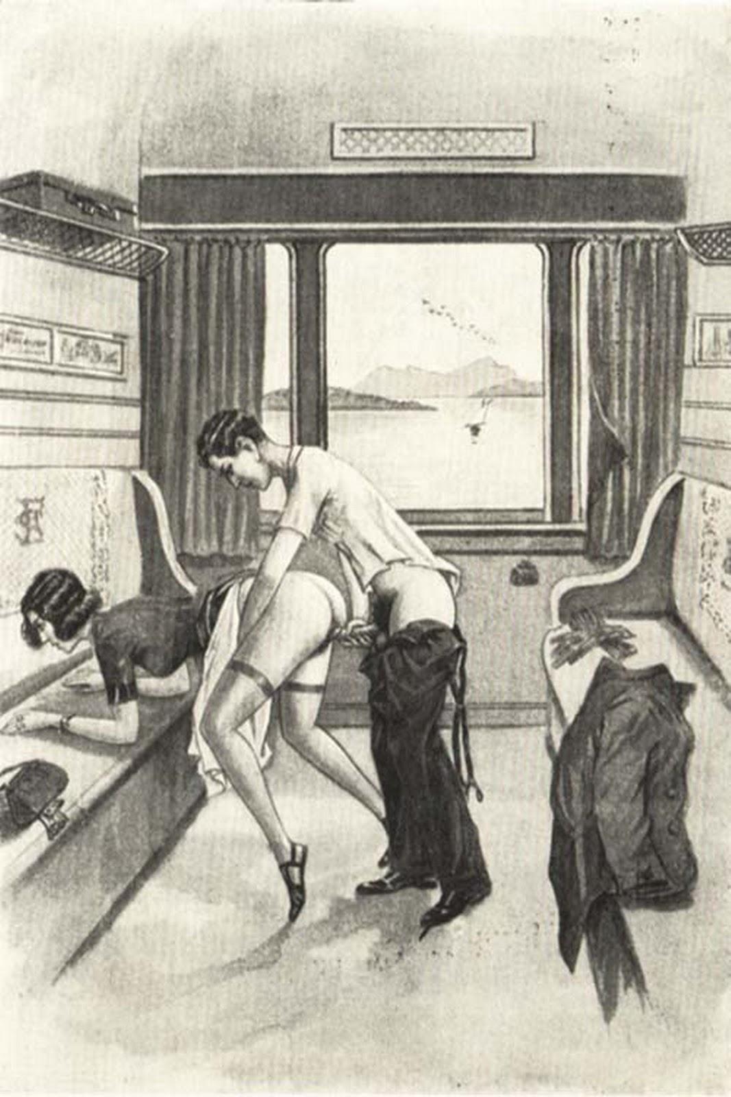 Секс ретро рисунки