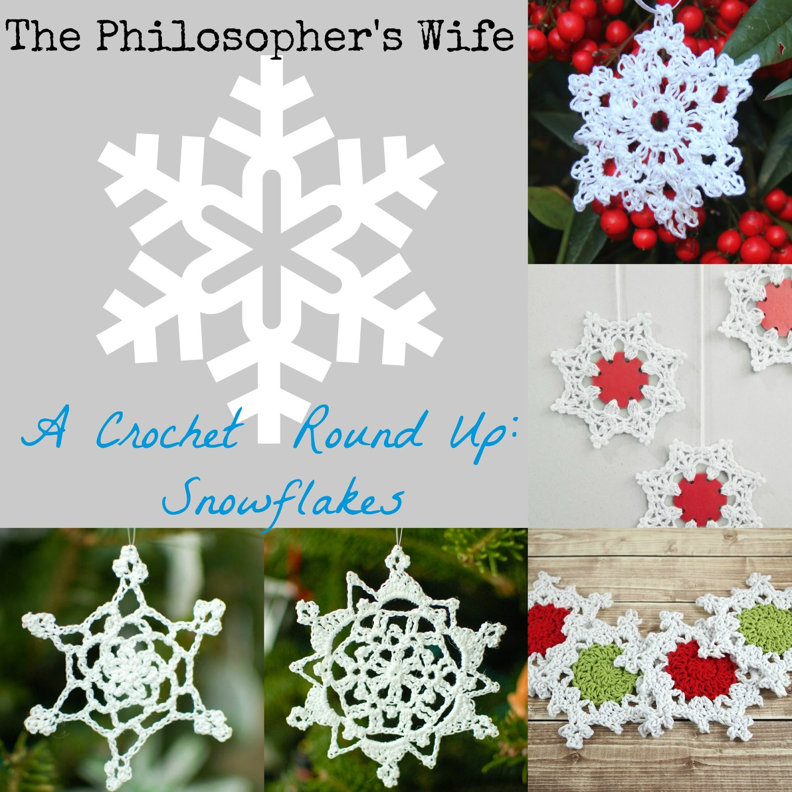 The Philosopher\'s Wife: A Crochet Pattern Round Up: Snowflakes