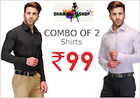 Exclusive Deal : Buy 2 Formal Shirts Only at Rs.99: Buytoearn