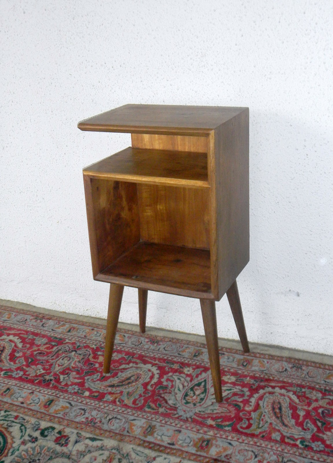 Mid century modern bedside cabinets vintage and fine for Mid century reproduction