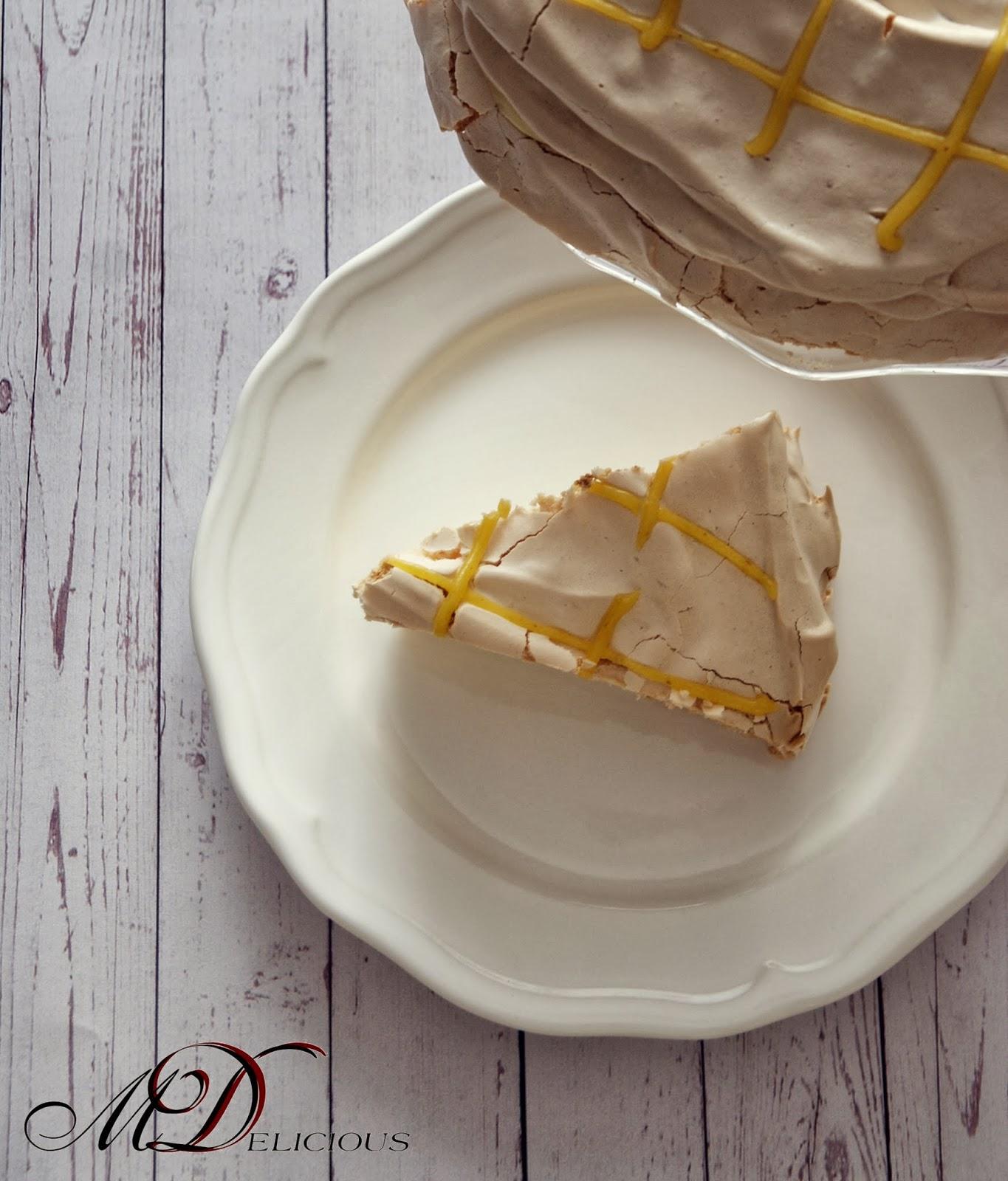 beza, torcik bezowy, tort cytrynowy