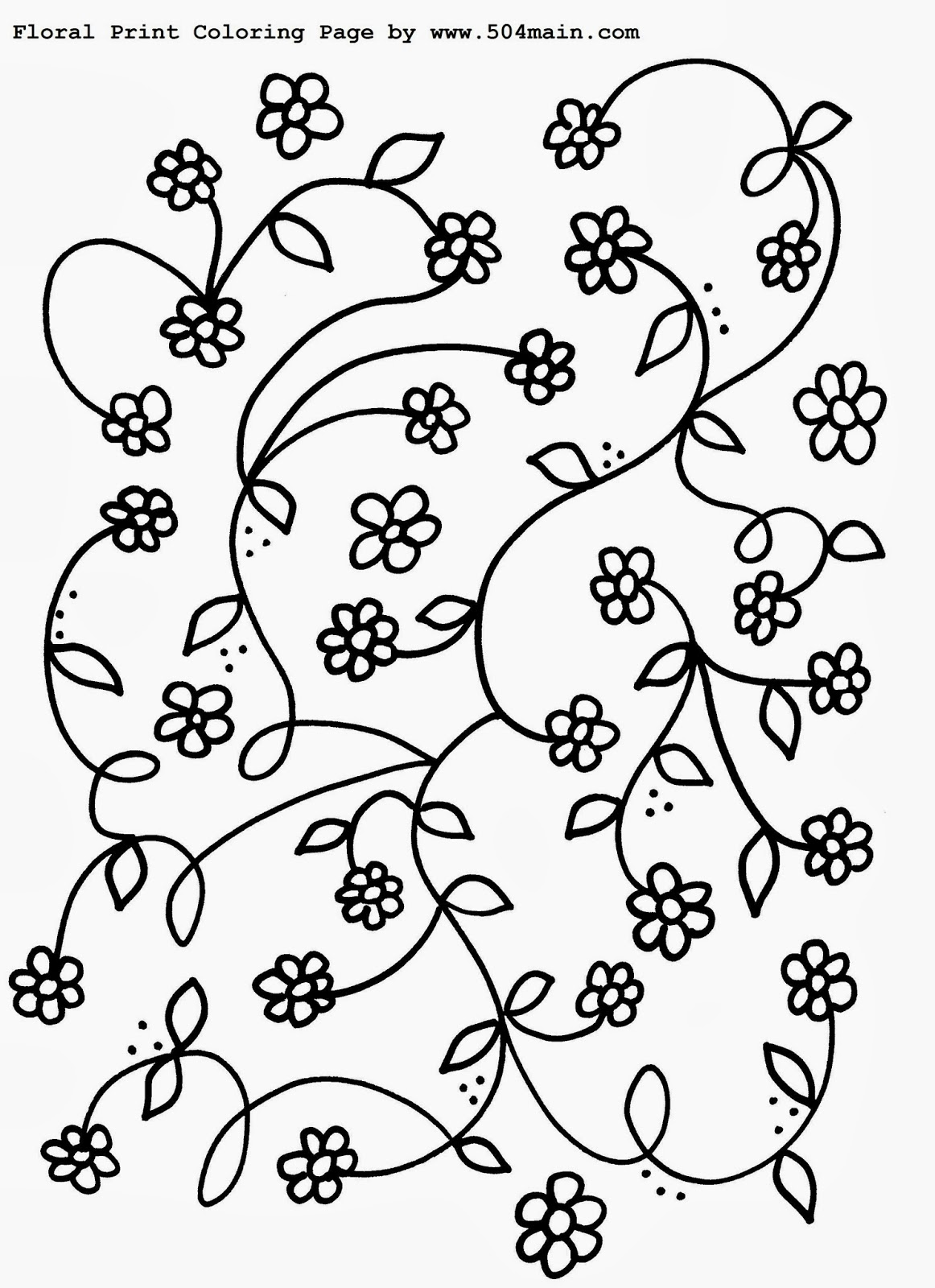 Floral Print Coloring Page Printable #shop #ColorfulCreations #Walmart #Cbias