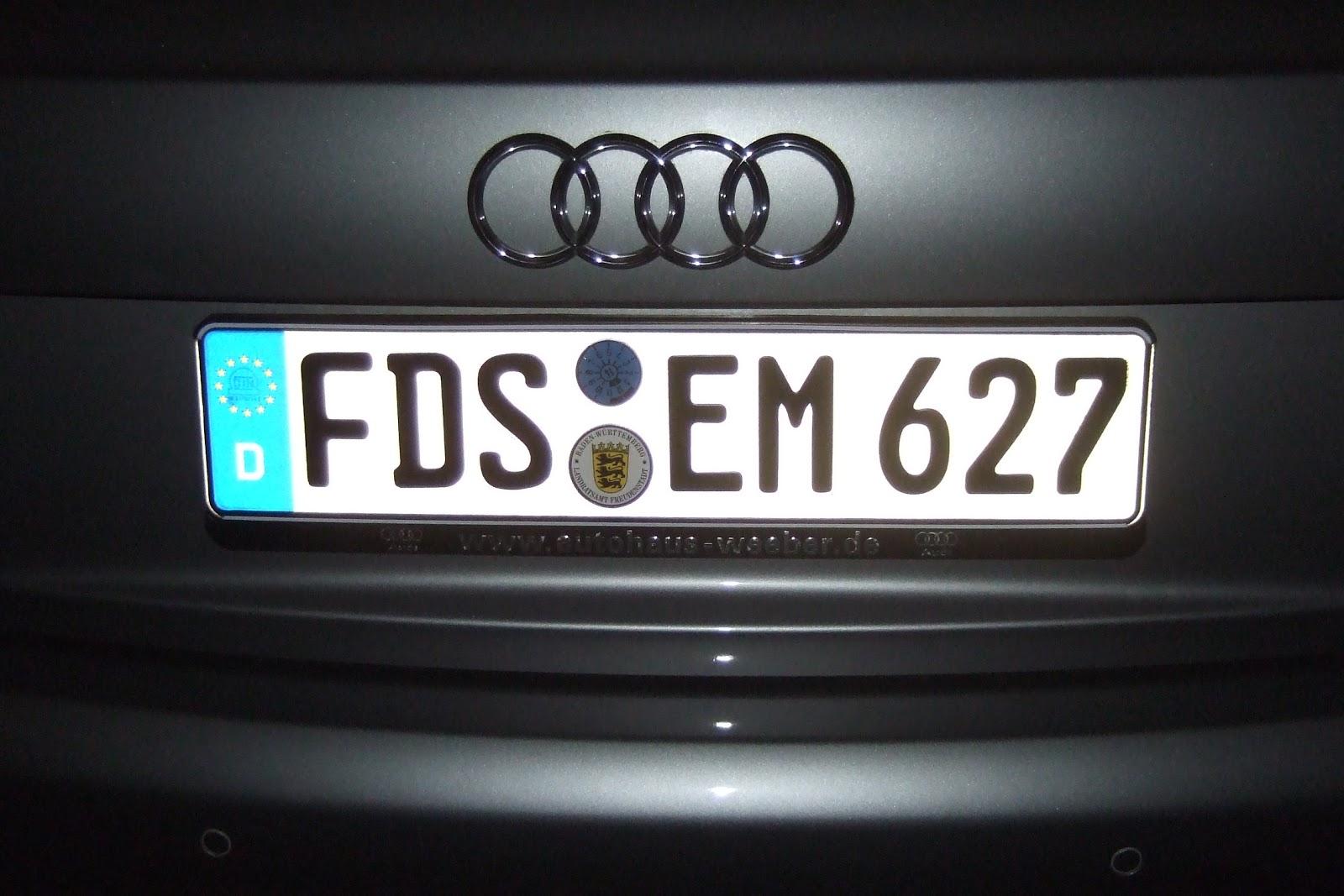 Ami Im Schwabenland German License Plates