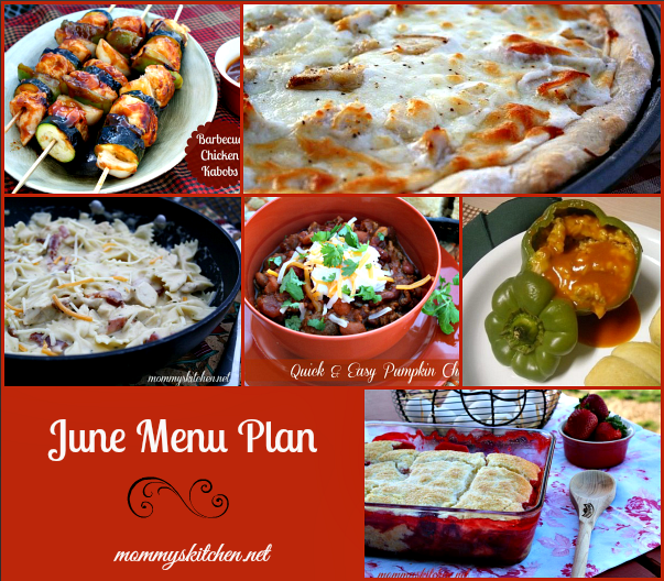 june menu - menu plan monthly