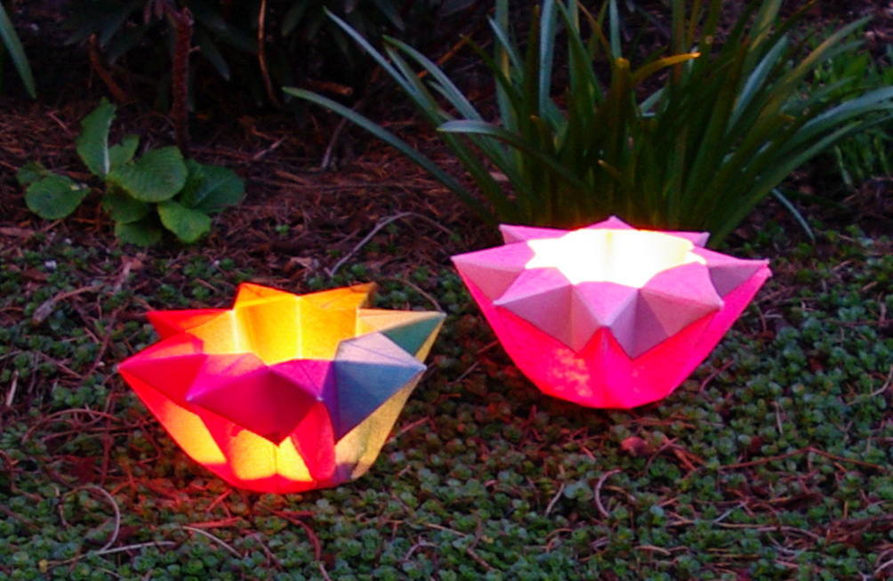 niffie tiffers origami paper star lantern