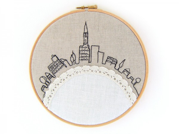 LessThanPerfect Life Of Bliss Silhouette Embroidery