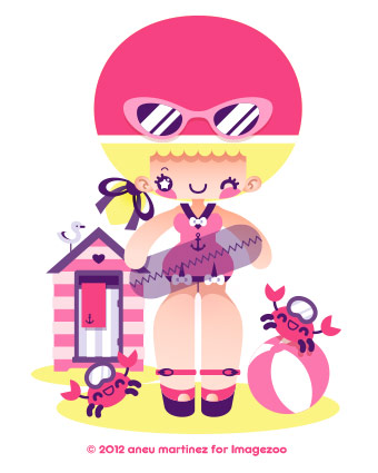 swimming-kawaii-beach-aneu-martinez-illustration-imagezoo