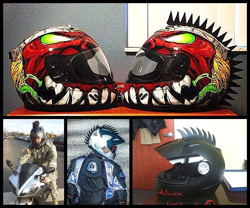 Cool Motorcycle Helmets With Mohawks Motorcycle Helmet Mohawks