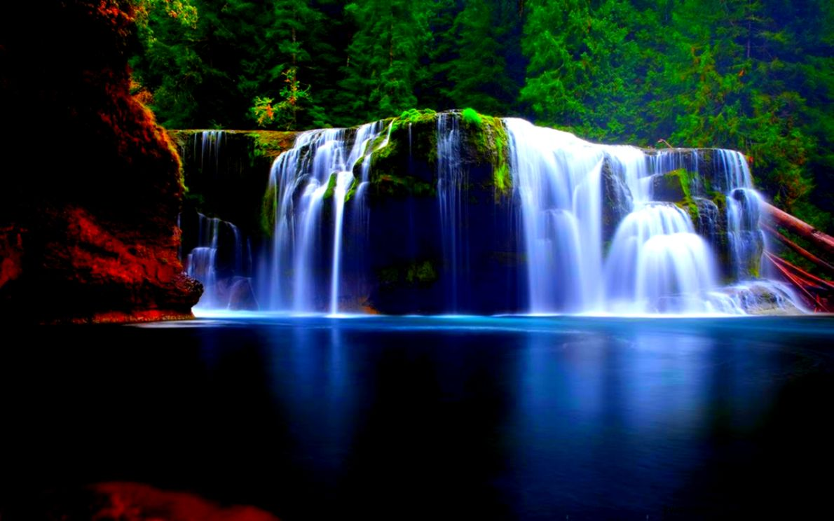 Waterfalls Background Wallpapers  WIN10 THEMES