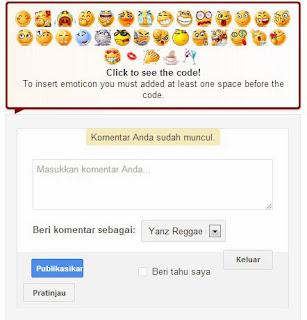 Cara Memasang Emoticon Di Kotak Komentar Blog