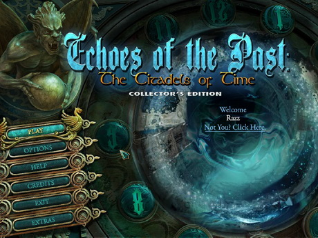 Echoes of the Past 3: The Citadels of Time Main menu