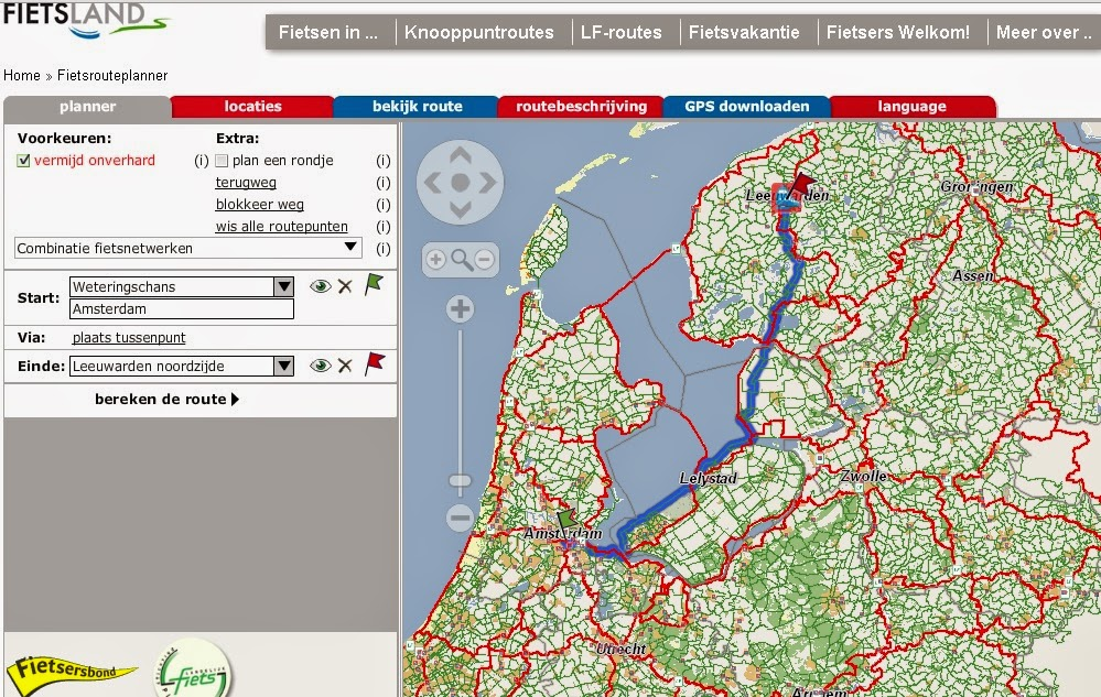 Dutch bike route