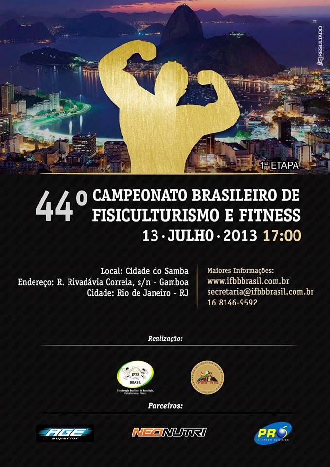 Banner 44º Campeonato Brasileiro de Fisiculturismo e Fitness - Foto: Divulgação