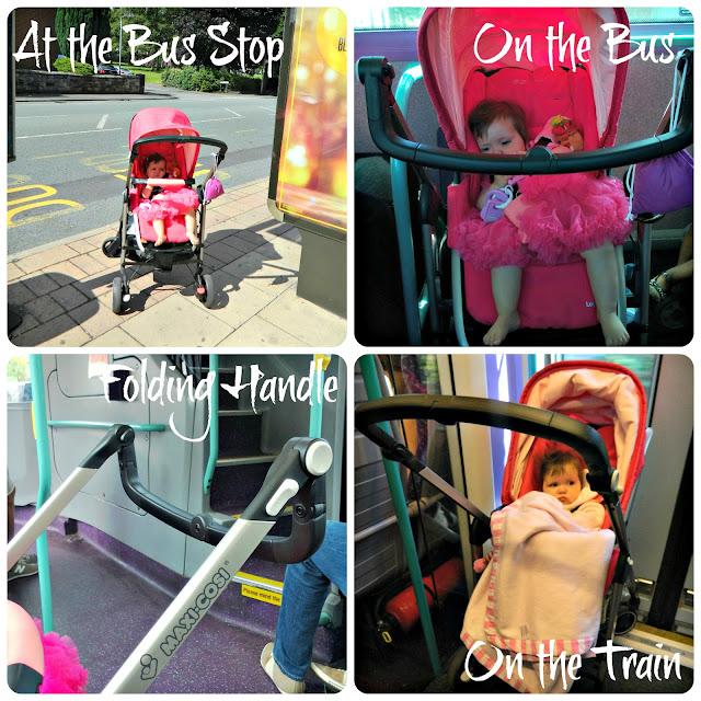 The Origami Rose Maxi-Cosi Loola on public transport