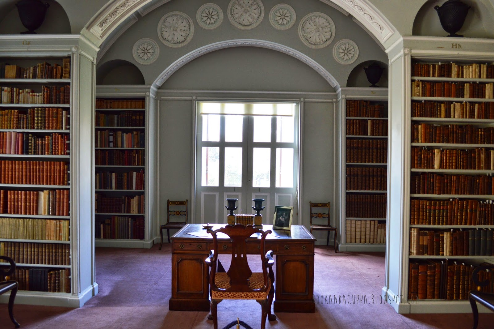 book room, library, old books, Cambridgeshire, Wimpole estate, shelves, pretty, real life Beauty and the Beast, photos, photographs, ladder,