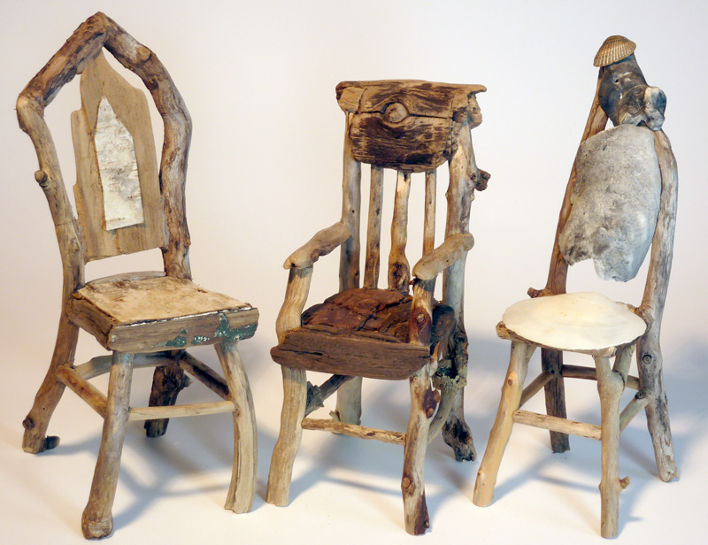 Miniature Rustic Twig Chairs By George C. Clark