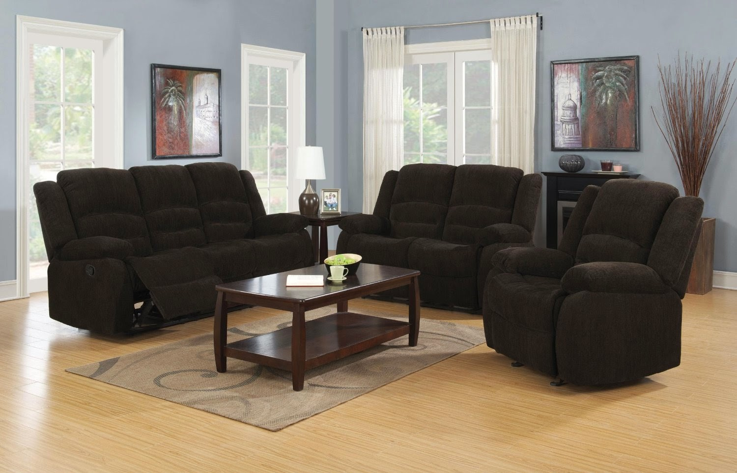 Chocolate Catner Enterprise Chenille Reclining Sectional Sofa