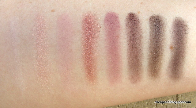 CoverGirl TruNaked Roses Eyeshadow Palette swatches