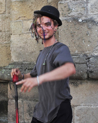 Street Performer at St Austell Cornwall