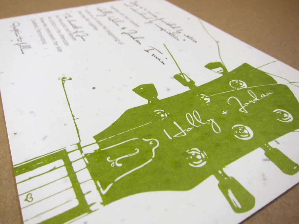 For Ever: A guitar theme your wedding invitation | Rock On!