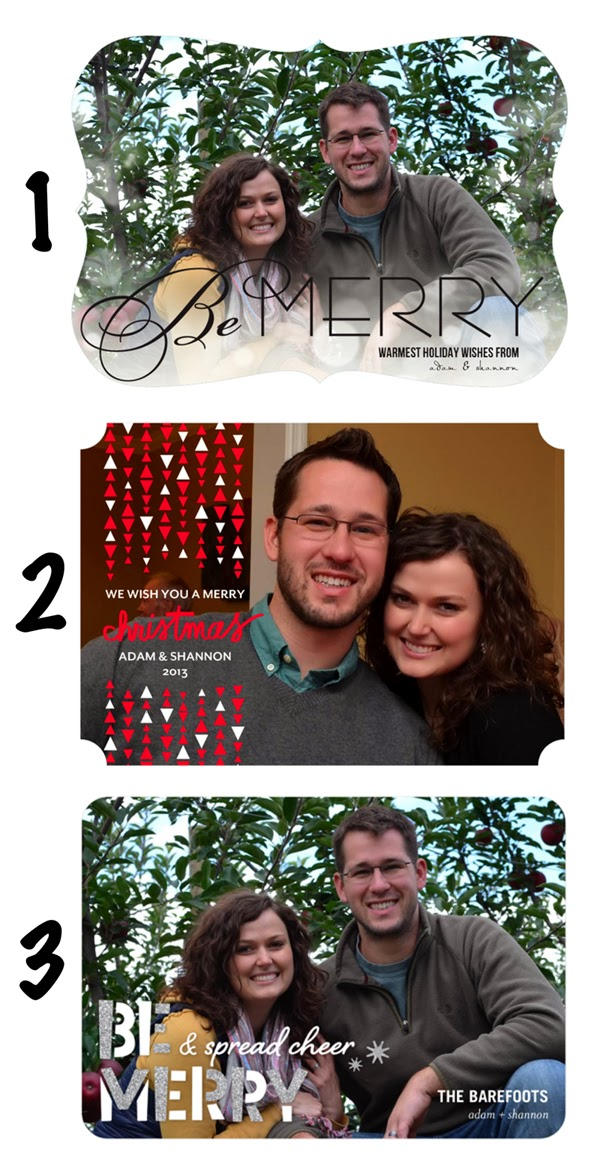 Sewing Barefoot: 2013 holiday cards