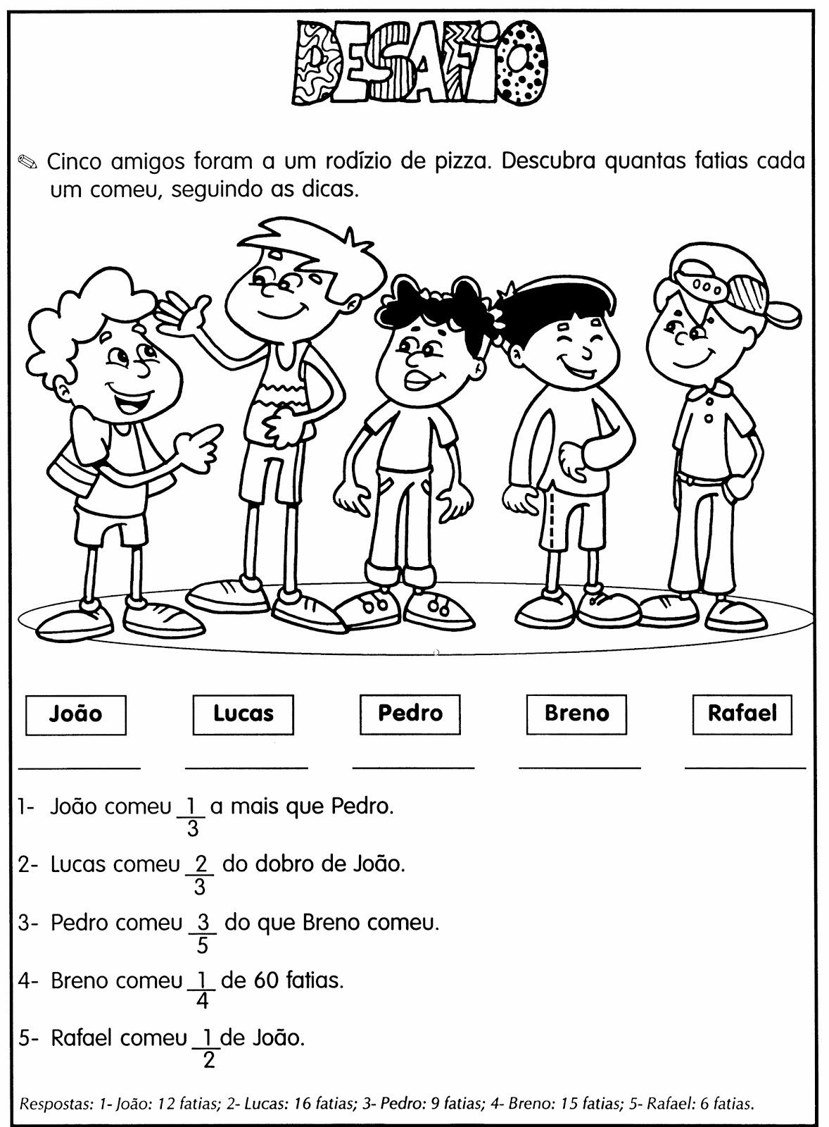 Excepcional DESAFIOS MATEMÁTICOS. PROBLEMAS ILUSTRADOS. MODELOS DE ATIVIDADES  WY32