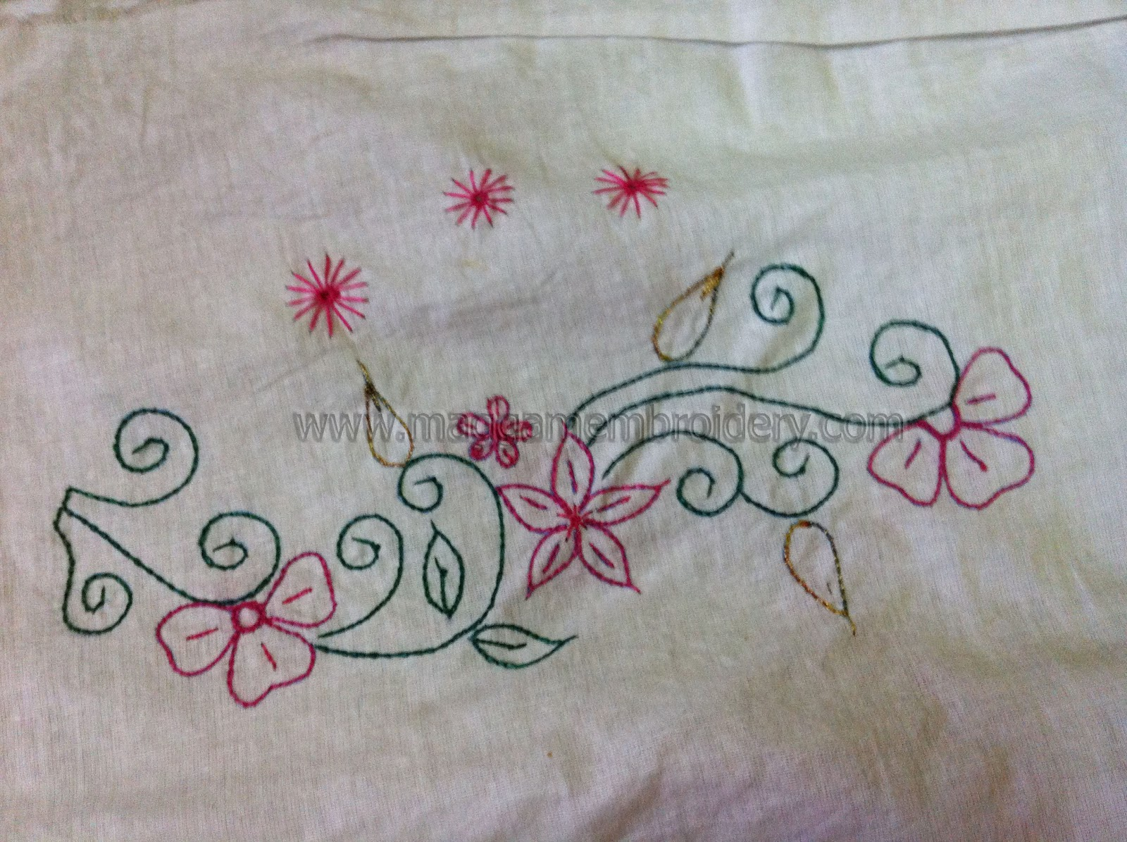 Simple Machine Embroidery Blouse Designs